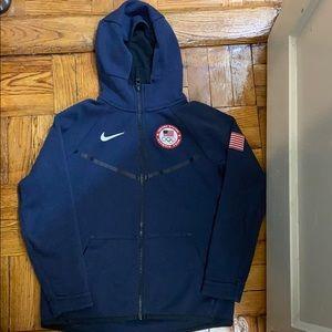 Nike Big Kids Olympic USA zip up hoodie